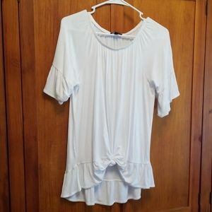Ana womens white top med